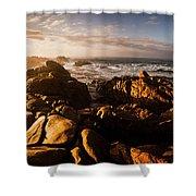 Morning Ocean Panorama Shower Curtain