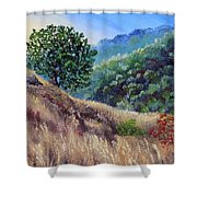 Morning On A Hilltop Shower Curtain
