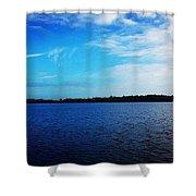 Morning On Bass Lake Shower Curtain