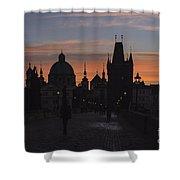 Morning On Charles Bridge Shower Curtain