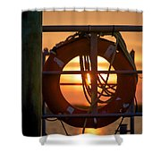 Morning On Deck  Shower Curtain