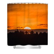 Morning On Fire Shower Curtain