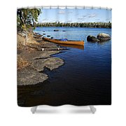 Morning On Hope Lake Shower Curtain by Larry Ricker