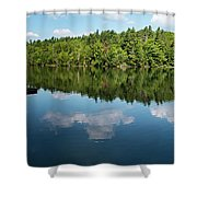 Morning On Lincoln Pond Shower Curtain