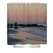 Morning On The Beach At Cape May Shower Curtain
