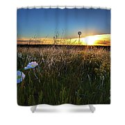 Morning On The Grasslands Shower Curtain