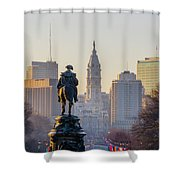Morning On The Parkway - Philadelphia Shower Curtain
