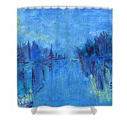 Morning On The Point Shower Curtain