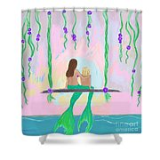 Morning On The Swing Shower Curtain