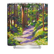 Morning On The Trail 3 Shower Curtain