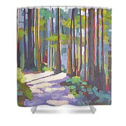 Morning On The Trail Shower Curtain