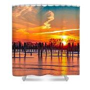 Morning Pier Shower Curtain