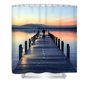 Morning Pier Shower Curtain