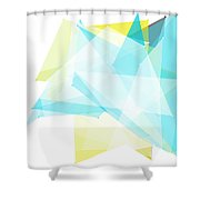 Morning Polygon Pattern Shower Curtain