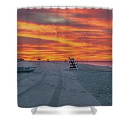 Morning Red Sky At Cape May New Jersey Shower Curtain