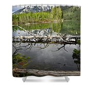 Morning Reflection Of Cathedral Group Shower Curtain