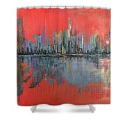 Morning Reflects Illusion Shower Curtain