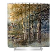 Morning River Shower Curtain