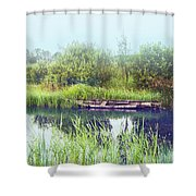 Morning River In Old Dutch Village Shower Curtain