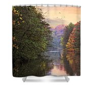 Morning River View  Shower Curtain