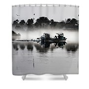 Morning Routine Shower Curtain