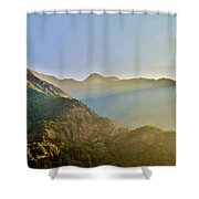 Morning Shadows In The Himalayas Shower Curtain