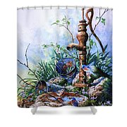 Morning Shower Shower Curtain