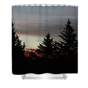 Morning Silhouette 2 Shower Curtain