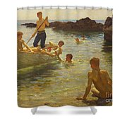 Morning Splendour Shower Curtain by Henry Scott Tuke