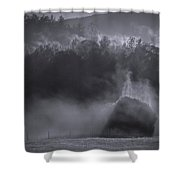Morning Sun Rising Fog Cades Cove Shower Curtain