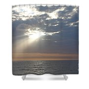 Morning Sunburst Shower Curtain