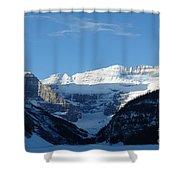 Morning Sunshine Kisses Snowy Peaks Shower Curtain