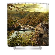 Morning Sunshine Shower Curtain by Lj Lambert