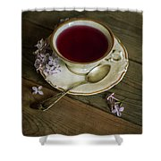 Morning Tea With Lilacs Shower Curtain