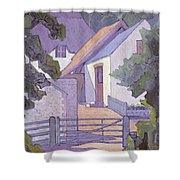 Morning, The South Downs By Robert Polhill Bevan Shower Curtain