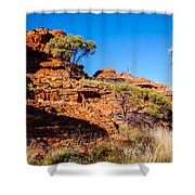 Morning To The Kings Canyon Rim - Northern Territory, Australia Shower Curtain