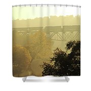 Morning Train Shower Curtain