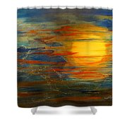 Morning View From Hill Street With City Lights Shower Curtain