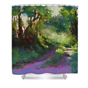 Morning Walk II Shower Curtain