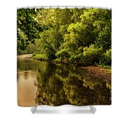 Morning Warmth Williams River  Shower Curtain