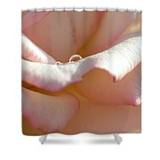Mornings Water Droplets Shower Curtain