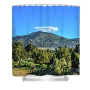 Morning View Of Albion Mountains Shower Curtain