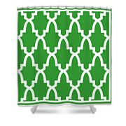Moroccan Arch With Border In Dublin Green Shower Curtain