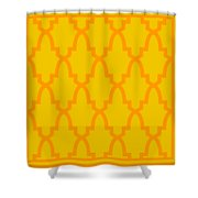 Moroccan Arch With Border In Mustard Shower Curtain
