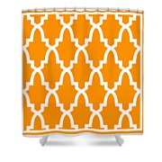 Moroccan Arch With Border In Tangerine Shower Curtain