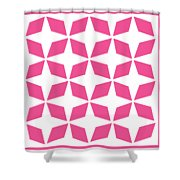 Moroccan Inlay With Border In French Pink Shower Curtain