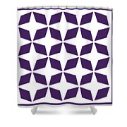 Moroccan Inlay With Border In Purple Shower Curtain