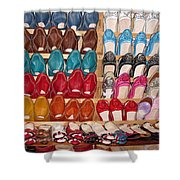 Moroccan Shoes 3 Shower Curtain