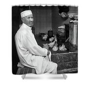 Moroccan Shopkeeper Shower Curtain