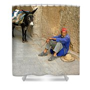 Moroccan Taxi Shower Curtain